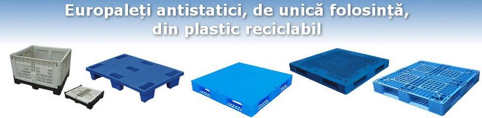 Vă punem la dispoziție o gamă variată de europaleți din mase plastice, pentru toate necesitățile de transport și stocare posibile