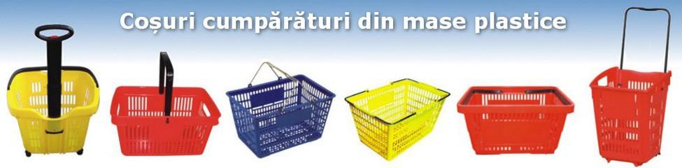 De la noi puteți achiziționa coșuri pentru cumpărături din plastic, pentru magazine hypermarket, supermarket sau minimarket